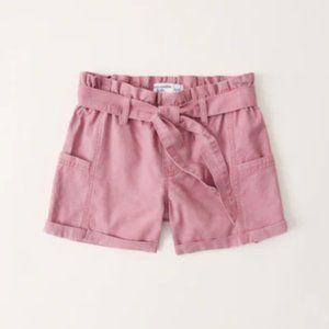 Abercrombie Kids High Rise Paperbag Waist Shorts